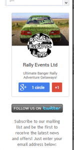 Google+ badge before shifting to the left
