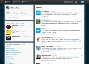 The new Twitter home page